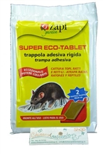 TAVOLE COLLANTI PER RATTI E  TOPI - SUPER ECO TABLET